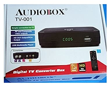 Audiobox Digital TV Converter Box Model: TV-001 HDMI RCA USB connections