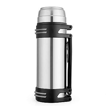 Termo de acero inoxidable con doble pared aislante oneisall DGYB005, botella de gran capacidad con tapa interior a prueba de fugas, incluye 2 tazas y ...