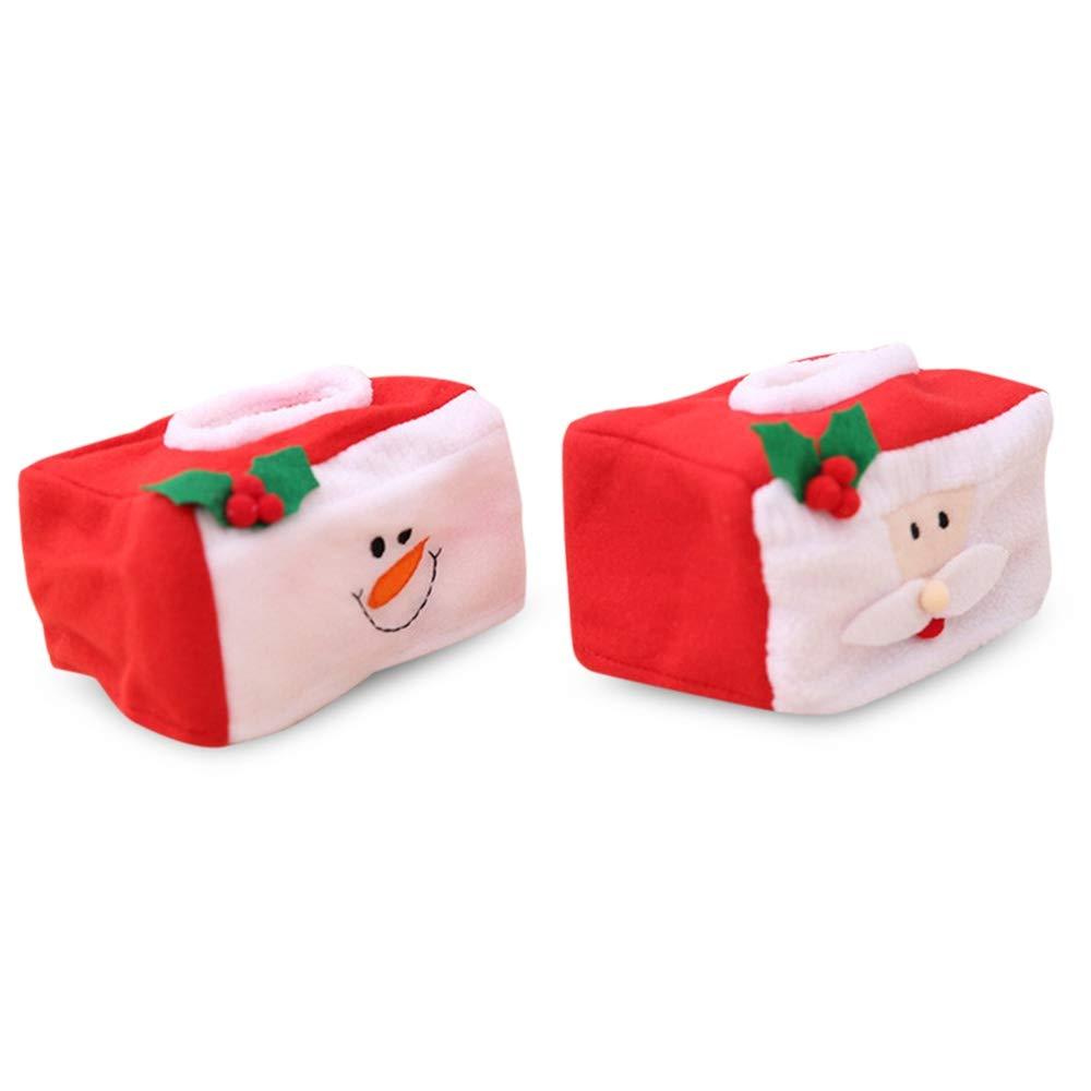 Shuzhen Muneco De 2pcs Nieve 2pcs De Y Santa Claus Christmas Tissue
