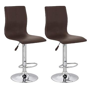 Repose Vidaxl Bar De 2 Chocolat Instep Confort Design Pieds Lot Tabourets by7f6gY