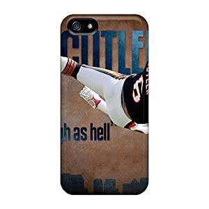 Scratch Protection Hard Cell-phone Cases For Iphone 5/5s With Unique Design Trendy Chicago Bears Pattern ChristopherWalsh