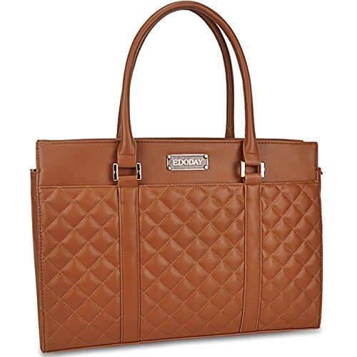 Laptop Tote Bag,EDODAY 15.6 In Laptop Bag for Women Work Travel School Large Laptop Tote (3.brown)
