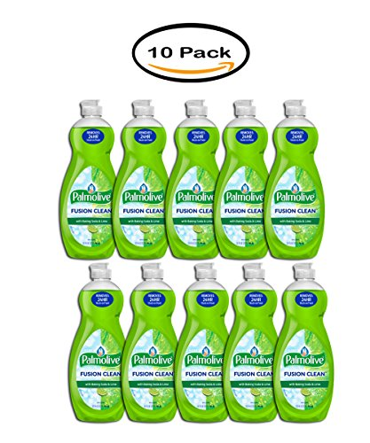 Pack of 10 - Palmolive Fusion Clean Dish Soap, Lime, 32.5 Oz by Palmolive