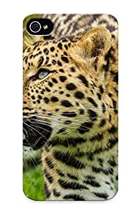 Series Skin Case Cover Ikey Case For Iphone 4/4s(amur Leopard Leopard Wild Cat Muzzle )