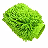 2 Jumbo LIME Car Wash Washing Microfiber Chenille mitt Cleaning Glove