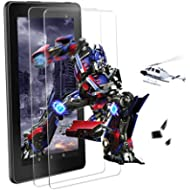 [2 Pack] All New FlRE 7 Tablet Tempered Glass Screen Protector (7th Generation - 2017 Release),...