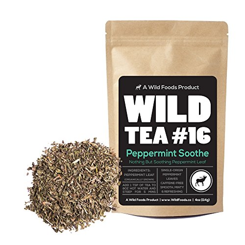 Wild Mint Tea - Organic Peppermint Tea, Loose Leaf Herbal Peppermint Leaves, Wild Tea #16 Peppermint Soothe by Wild Foods (4 ounce)