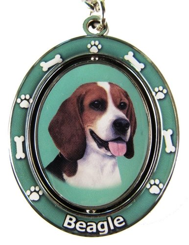 E&S Pets Beagle Double Sided Spinning Key Chain, KC-3 ()