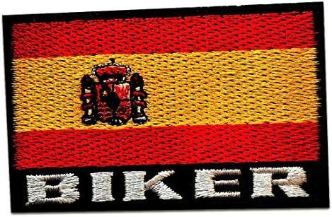 Parches - España bandera - rojo/amarillo - 7,5x4,8cm - termoadhesivos bordados aplique para ropa: Amazon.es: Hogar