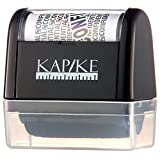 KAPIKE Identity Theft Protection Kit - Wide Roller Stamp With 3 Black Refill Inks. Light & Easy to Use. Protects Your Sensitive Data from Thieves. Eliminates Shredding. Portable for Home & Office