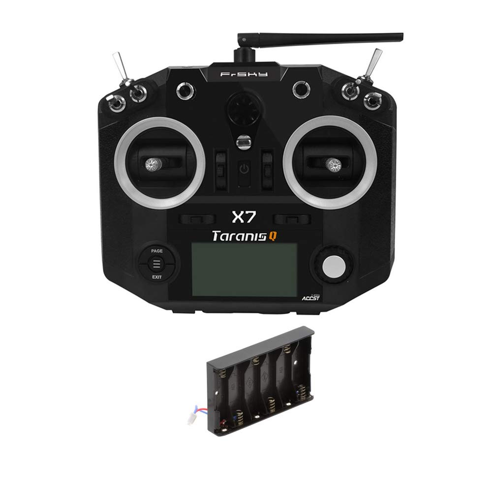 FrSky Taranis Q X7 2.4GHz 16CH Transmitter Remote Controller (Black, with AA Battery Tray)