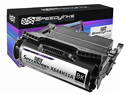 (Speedy Inks Remanufactured Toner Cartridge Replacement for Lexmark X644H11A High-Yield (Black))