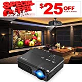 LED LCD Projector 1080p Full HD 3600 Lumens with Free HDMI Cable Keystone