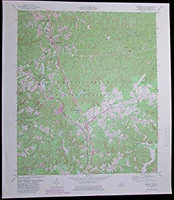 Whitley City Kentucky Daniel Boone National Forest vintage 1983 USGS Topo chart