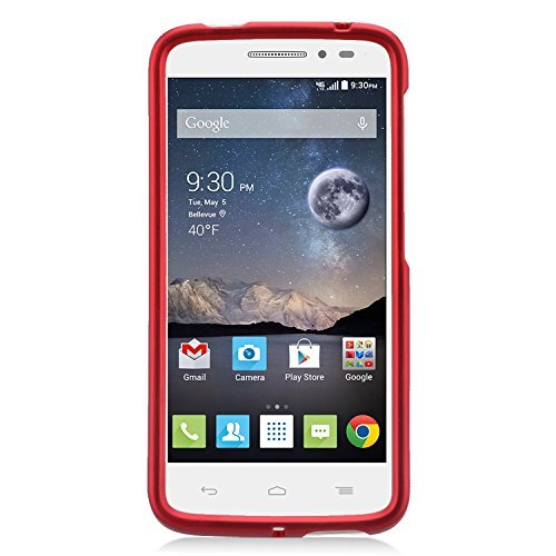 Alcatel One Touch Pop Astro Case, Eagle Cell Rubberized Hard Snap-in Case Cover For Alcatel One Touch Pop Astro, Red (Snap Rubberize Red)