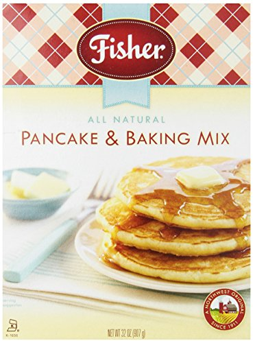 Fisher Pancake & Baking Mix, 32-Ounce Boxes (Pack of 6)