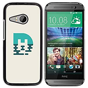 Be Good Phone Accessory // Dura Cáscara cubierta Protectora Caso Carcasa Funda de Protección para HTC ONE MINI 2 / M8 MINI // blue mark M