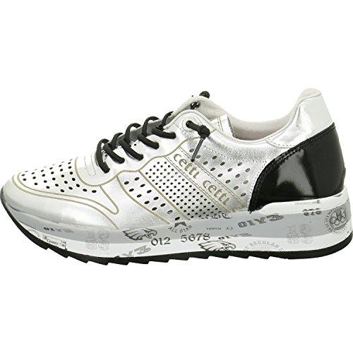 Cetti C-1073 Sra-4/4 - Zapatos de cordones para mujer Plata