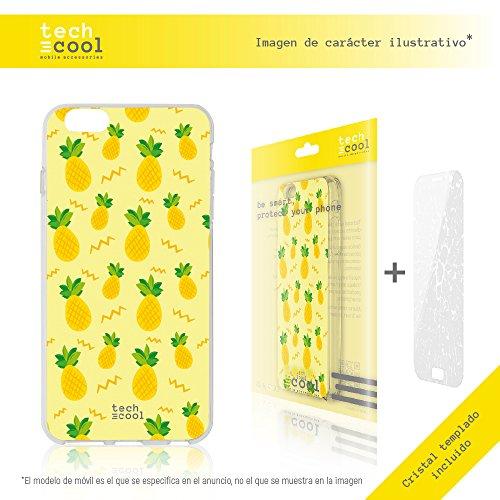 Iphone 5 / 5S / SE Coque, Funnytech® Housse premium Souple TPU Silicone pour Iphone 5 / 5S / SE + Verre trempe l [couleurs très vives] [Design exclusif, Impression haute définition] [1.5mm] [Antichoc]
