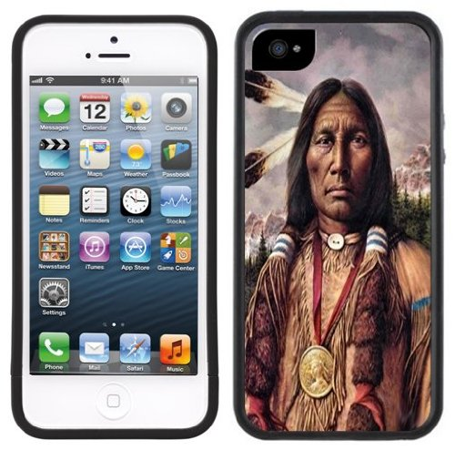 Indian Chief | Handgefertigt | iPhone 5 5s | Schwarze Hülle