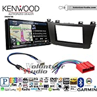 Volunteer Audio Kenwood DNX874S Double Din Radio Install Kit with GPS Navigation Apple CarPlay Android Auto Fits 2012-2013 Mazda 3