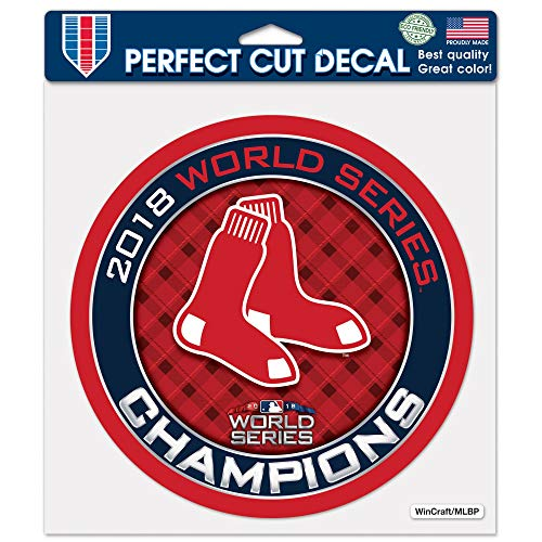 """WinCraft Boston Red Sox 2018 World Series Champions 8"""" X 8"""" Perfect Cut Decal"""