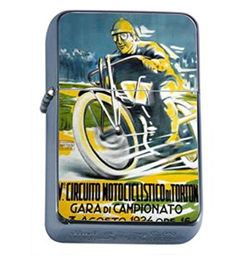 Motorcycle 1924 Italy Retro Oil Lighter D-121 by Perfection In Style