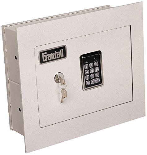 Gardall WS1314-T-EK 4'' Concealed Wall Safe with Single Key and Electronic Lock 4'' Tan by Gardall (Image #2)