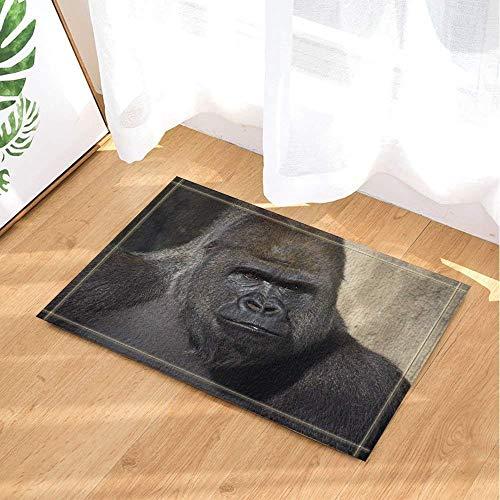 Black Ferocious Gorilla vajraBathroom Anti-Slip mat Door Anti-Slip Floor Indoor Entrance Bathroom mat Children 40X60CM