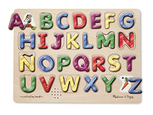 (Melissa & Doug Spanish Alphabet Sound Puzzle (27 pcs))