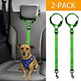 Bwogue 2 Packs Dog Cat Safety Seat Belt Strap Car Headrest Restraint Adjustable Nylon Fabric Dog Restraints Vehicle Seatbelts Harness Review