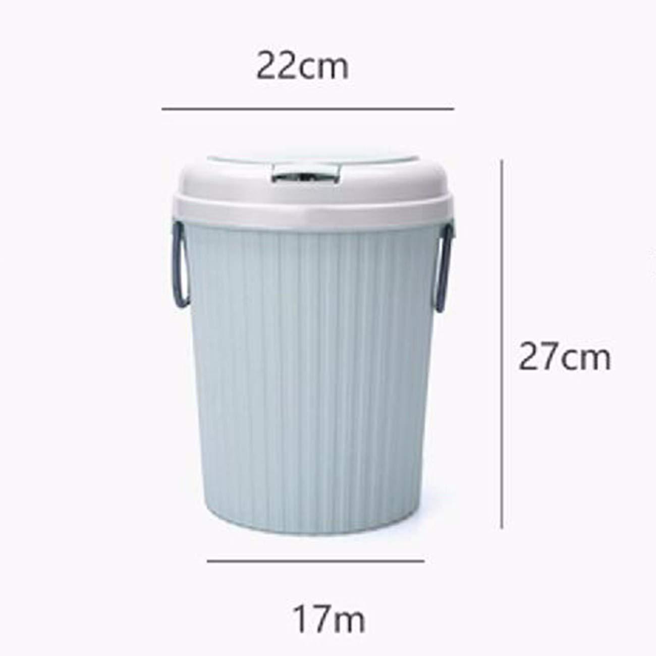 XJTNLB-cubos Large de basura Hogar Large XJTNLB-cubos Cap con Dustshell Cover,Un 15a629