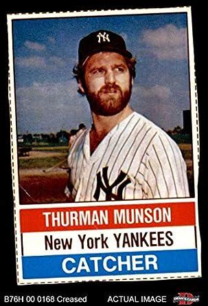 5f37ad086f0 1976 Hostess   16 Thurman Munson New York Yankees (Baseball Card) Dean s  Cards 3