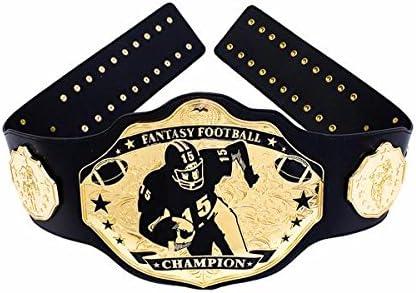 Amazon Com Undisputed Belts Fantasy Football Championship Belt Trophy Prize Stiff Arm Sports Outdoors