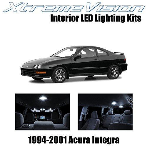 XtremeVision Interior LED for Acura Integra 1994-2001 (6 Pieces) Pure White Interior LED Kit + Installation Tool