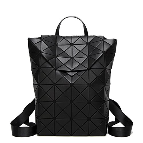 Girl Fashion Folding Sequins Everyday Backpack Bag Geometric Black Female CTqdUTw
