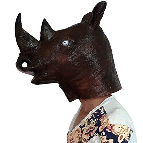 (Halloween Costume Party Latex Animal Head Mask)