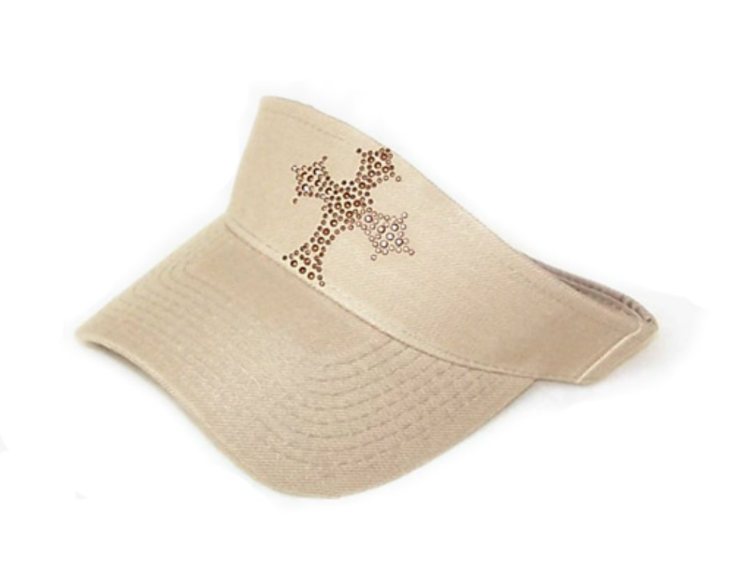 Copper Gold Cross Tennis Golf Tan Beige sun Visor