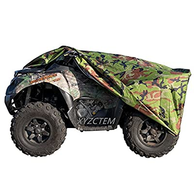 XYZCTEM Waterproof ATV Cover, Heavy Duty Meterial Protects 4 Wheeler From Snow Rain or Sun, Large Size Universal Fits up to 103 Inch Most Quads, Elastic Bottom Trailerable At High Speeds (Camo): Automotive