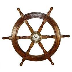 25 Ship Wheel Clock: Boat Decoration