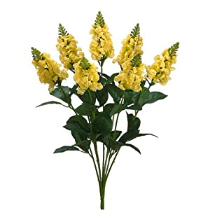 "23"" Snapdragon Bush x7 Yellow (Pack of 12) 36"