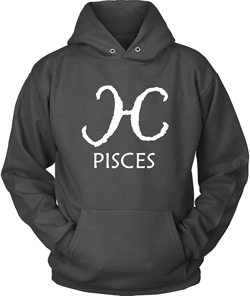Plus Size Up to 5X Horoscope Birthday Sign Hooded Sweatshirt Long Sleeve Pisces Hoodie