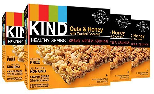 KIND Healthy Grains Bars Healthy Grains Bars - Oats & Honey with Toasted Coconut - 1.2 oz - 5 ct - 4 pk by KIND