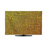 vanfan TV Dust Cover Abstract Depicting a Circuit Board Cord Cover for Wall Mounted TV W25 x H45 INCH/TV 47'-50'