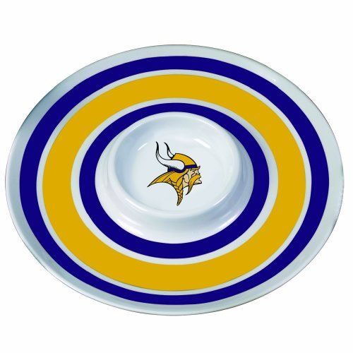 Minnesota Vikings 14 inch Melamine Chip and Dip -