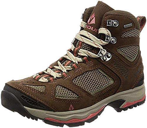 Vasque Women's Breeze III GTX Hiking Boots Brown/Spice 9 M & Knit Cap Bundle