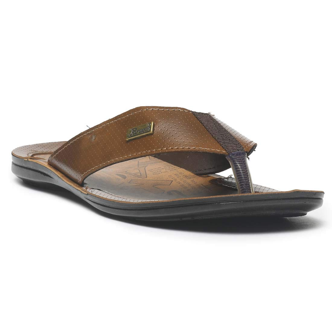Paragon Men Black Formal Slipper Flip Flops