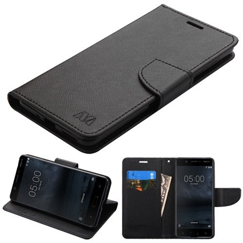 Click to buy Cell Accessories For Less (TM) Nokia 5 Black Pattern/Black Liner MyJacket Wallet Flip Case Cover Bundle (Stylus & Micro Cleaning Cloth) - By TheTargetBuys - From only $16.97