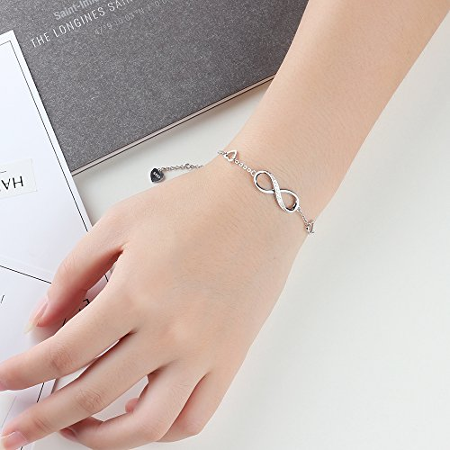 CLEMENT & HILTON Infinity Love 925 Sterling Silve Beautiful Love Symbol Bracelet Specially for Women The Most Intimate Gift(Friends/Mothers) by CLEMENT & HILTON (Image #2)