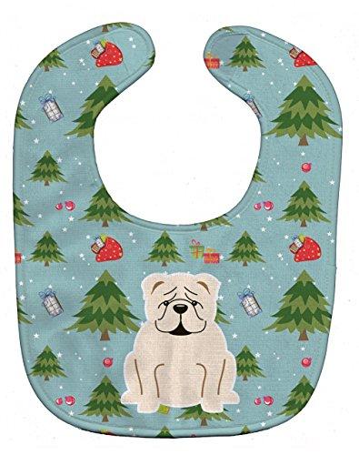 Price comparison product image Caroline's Treasures Christmas Baby Bib,  English Bulldog White,  Large